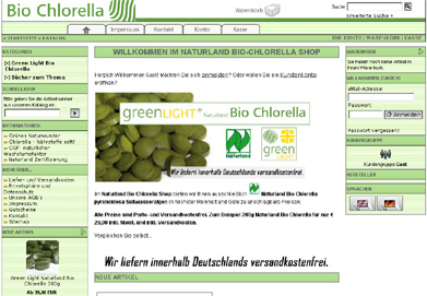 Bio Chlorella Algen Shop