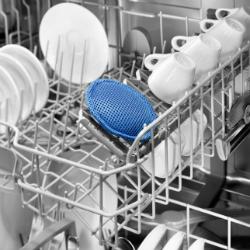 Blaues Spülmaschinenpad