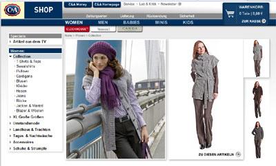 Online Shop - C&A.de