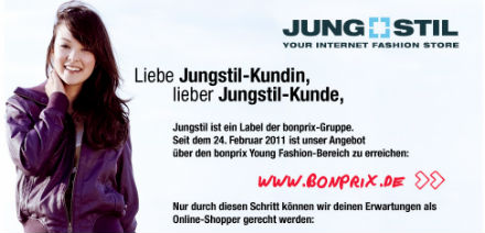 Jungstil Online Shop eingestellt