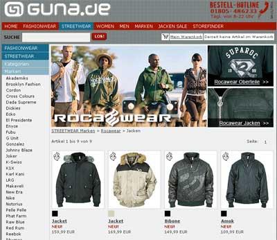Rocawear Jacken bei guna.de